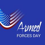 Armed forces day. Illustration of a Background for Armed forces day Stock Photography