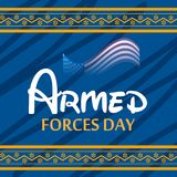 Armed forces day. Illustration of a Background for Armed forces day Stock Image