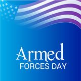 Armed forces day. Illustration of a Background for Armed forces day Royalty Free Stock Image