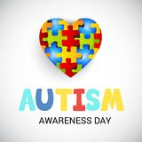 Autism Awareness Day. Illustration of a Background for Autism Awareness Day Stock Photos