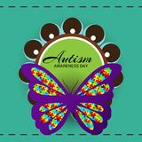 Autism Awareness Day. Illustration of a Background for Autism Awareness Day royalty free illustration
