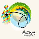 Autism Awareness Day. Illustration of a Background for Autism Awareness Day Royalty Free Stock Photo