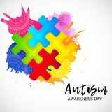 Autism Awareness Day. Illustration of a Background for Autism Awareness Day Royalty Free Stock Images
