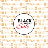 Black Friday Sale shopping Offer and Promotion Background on eve of Merry Christmas Royalty Free Stock Photo