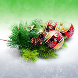 Illustration background with christmas decor Royalty Free Stock Photography