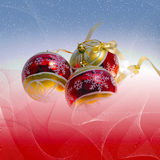 Illustration background with christmas decor Stock Image