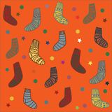 Background illustration christmas socks Royalty Free Stock Images