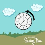 Daylight Saving Time. Illustration of a Background for Daylight Saving TimeSpring Forward Royalty Free Stock Images