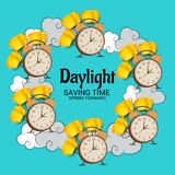 Daylight Saving Time. Illustration of a Background for Daylight Saving TimeSpring Forward Stock Image