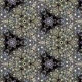 Illustration of a background of diamonds on a black background. Close-up Stock Images