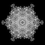 Illustration of a background of diamonds on a black background. Close-up Royalty Free Stock Photos