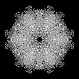 Illustration of a background of diamonds on a black background. Close-up Stock Photo