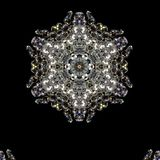 Illustration of a background of diamonds on a black background. Close-up Royalty Free Stock Image