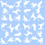 Illustration Background with dogs and cats. Seamless pattern. Royalty Free Stock Images