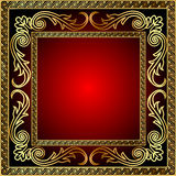 Illustration background with frame Stock Photography