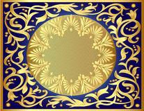 Illustration background with gold Royalty Free Stock Photo