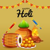 Happy Holi. Illustration of a Background for Happy Holi royalty free illustration