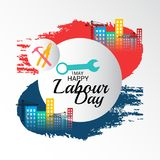 Happy Labour Day. Illustration of a Background For Happy Labour Day Royalty Free Stock Image