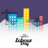 Happy Labour Day. Illustration of a Background For Happy Labour Day Royalty Free Stock Photos