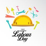 Happy Labour Day. Illustration of a Background For Happy Labour Day Stock Photos