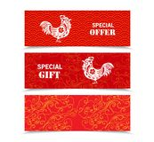 Illustration or background , Header, banner with beautiful chinese new year Stock Photography