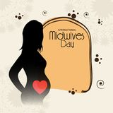 International Midwives Day. Illustration of a Background For International Midwives Day royalty free illustration