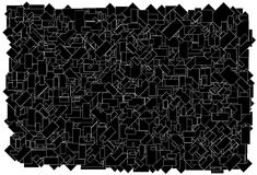 Background made of various size black rectangles w stock illustration
