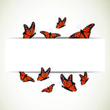 Monarch Butterflies. Illustration of a Background with Monarch Butterflies Stock Image
