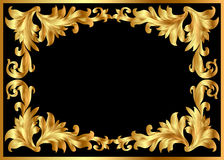 Illustration background pattern frame from gild Stock Images