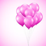 Background with pink balloons Royalty Free Stock Image