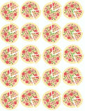 Illustration. Background with pizzas. Seamless pattern. Stock Image