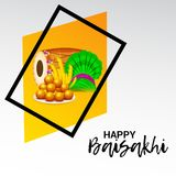 Happy Baisakhi Punjabi Festival Celebration. Illustration of a Background for Punjabi Festival Happy Baisakhi Celebration stock illustration