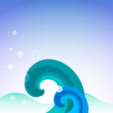 Illustration. Background sea blue vector Royalty Free Stock Image