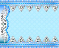 Illustration background with silver ornaments Royalty Free Stock Photography