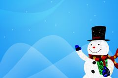 Illustration background of snowman. Stock Images