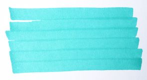 Illustration. Background, texture markers.Turquoise touch royalty free stock image