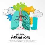 World Asthma Day. Illustration of a Background For World Asthma Day Stock Image