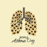 World Asthma Day. Illustration of a Background For World Asthma Day Stock Photos