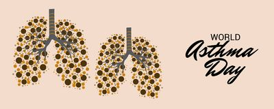 World Asthma Day. Illustration of a Background For World Asthma Day Royalty Free Stock Photo