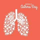 World Asthma Day. Illustration of a Background For World Asthma Day vector illustration