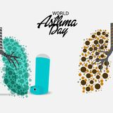 World Asthma Day. Illustration of a Background For World Asthma Day Royalty Free Stock Image
