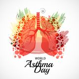 World Asthma Day. Illustration of a Background For World Asthma Day Royalty Free Stock Photos