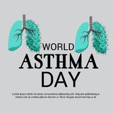 World Asthma Day. Illustration of a Background For World Asthma Day Stock Photo