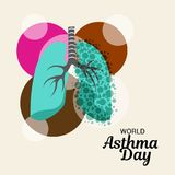 World Asthma Day. Illustration of a Background For World Asthma Day Royalty Free Stock Photography