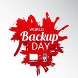 World Backup Day. Illustration of a Background for World Backup Day stock illustration