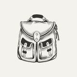Illustration of backpack Royalty Free Stock Images