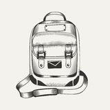 Illustration of backpack Stock Images