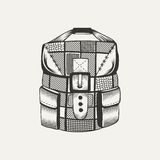 Illustration of a backpack Royalty Free Stock Photo