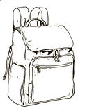 Illustration of a backpack royalty free stock images