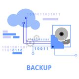 Illustration - backup. An illustration showing a backup related concept vector illustration
